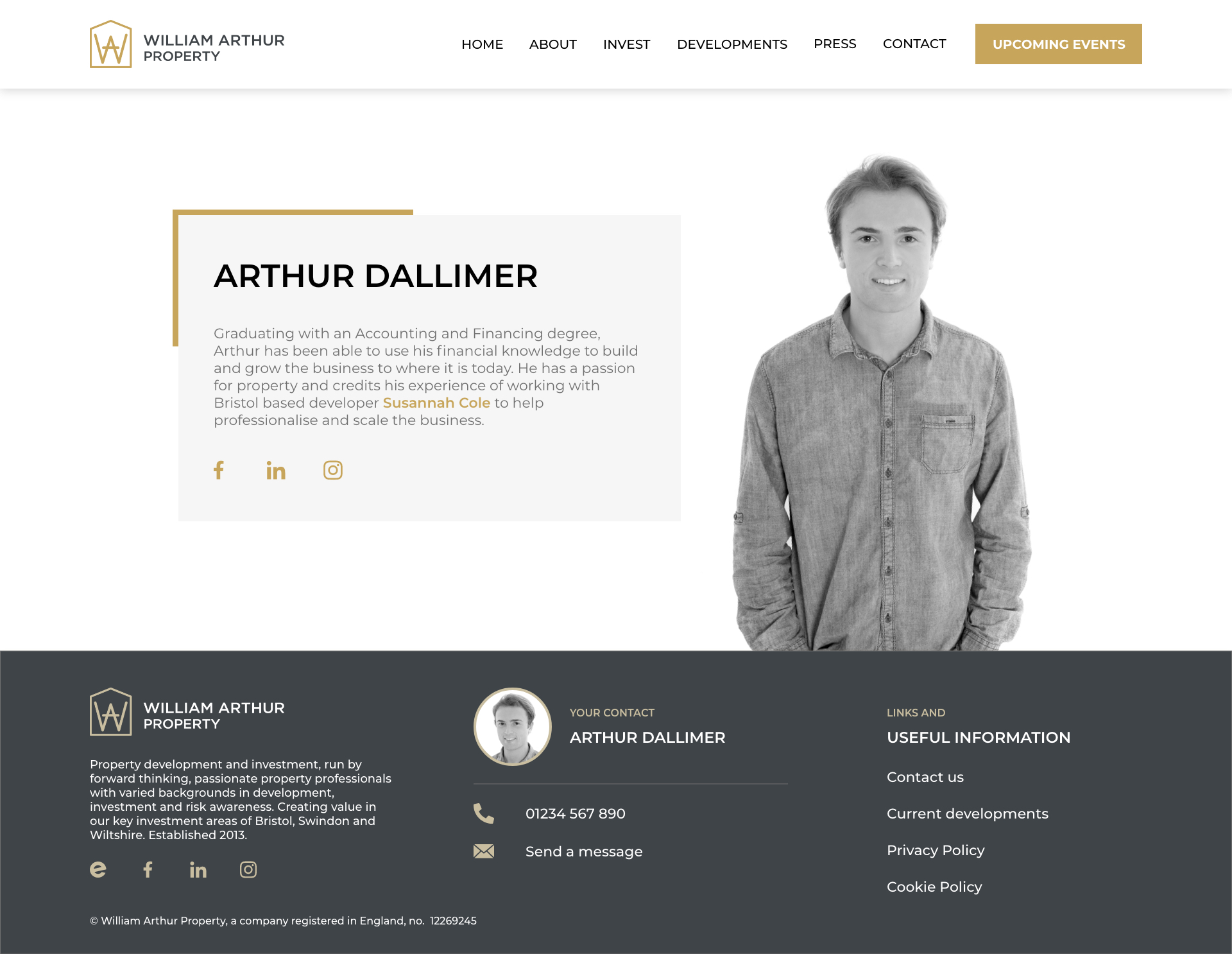 William Arthur - D111 - Team Member